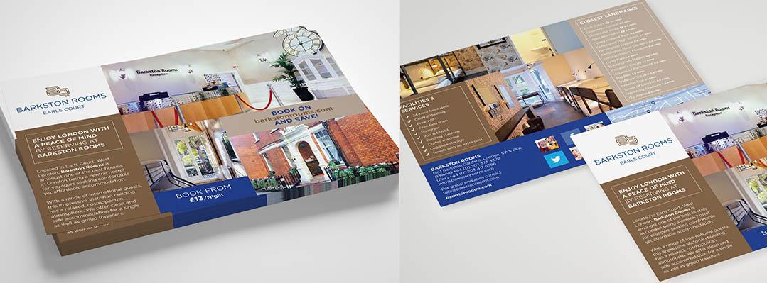barkston rooms set menu designed by pyrus services
