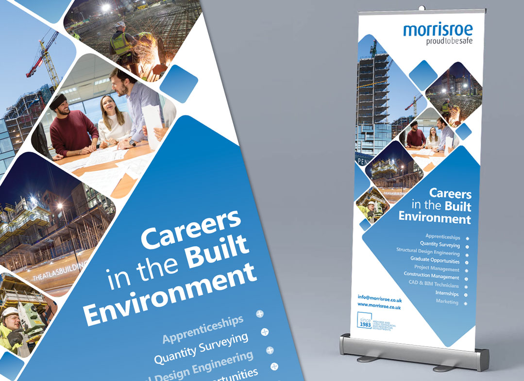 morrisroe roll up banner for Skills London. Exhibition