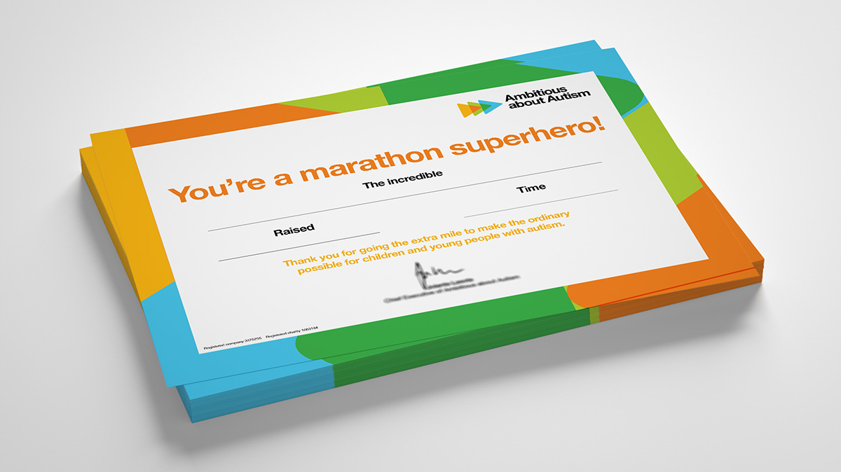 Ambitions about autism London Marathon