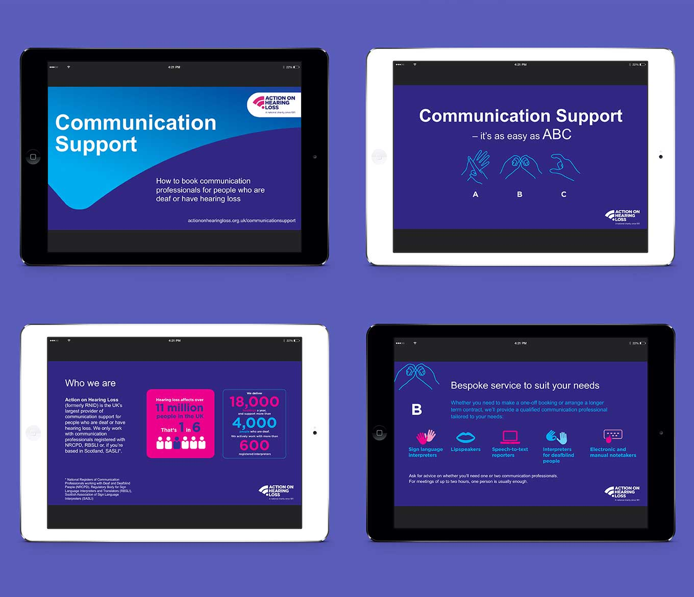 Action on Hearing Loss Communication Support by pyrus services