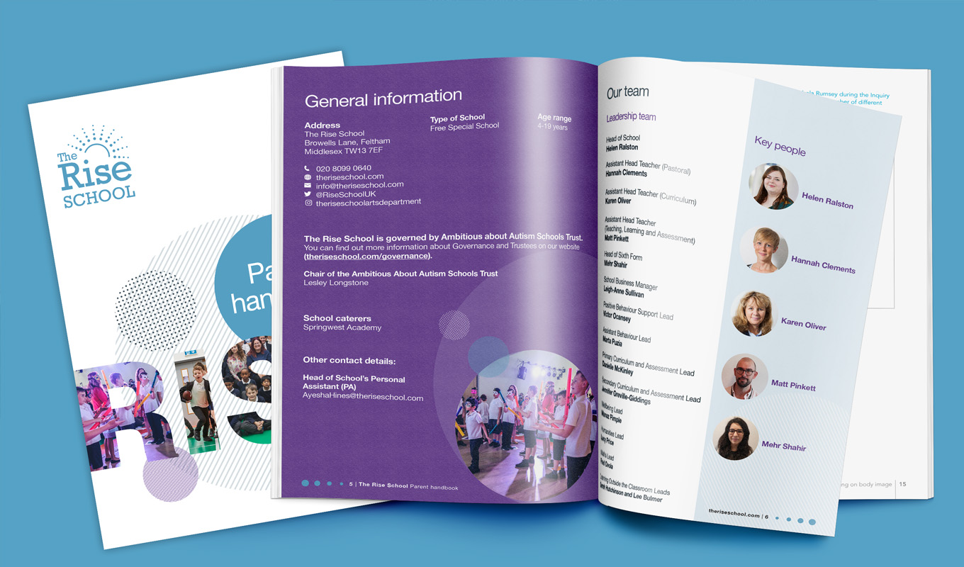 TheRise school parent handbook brochure