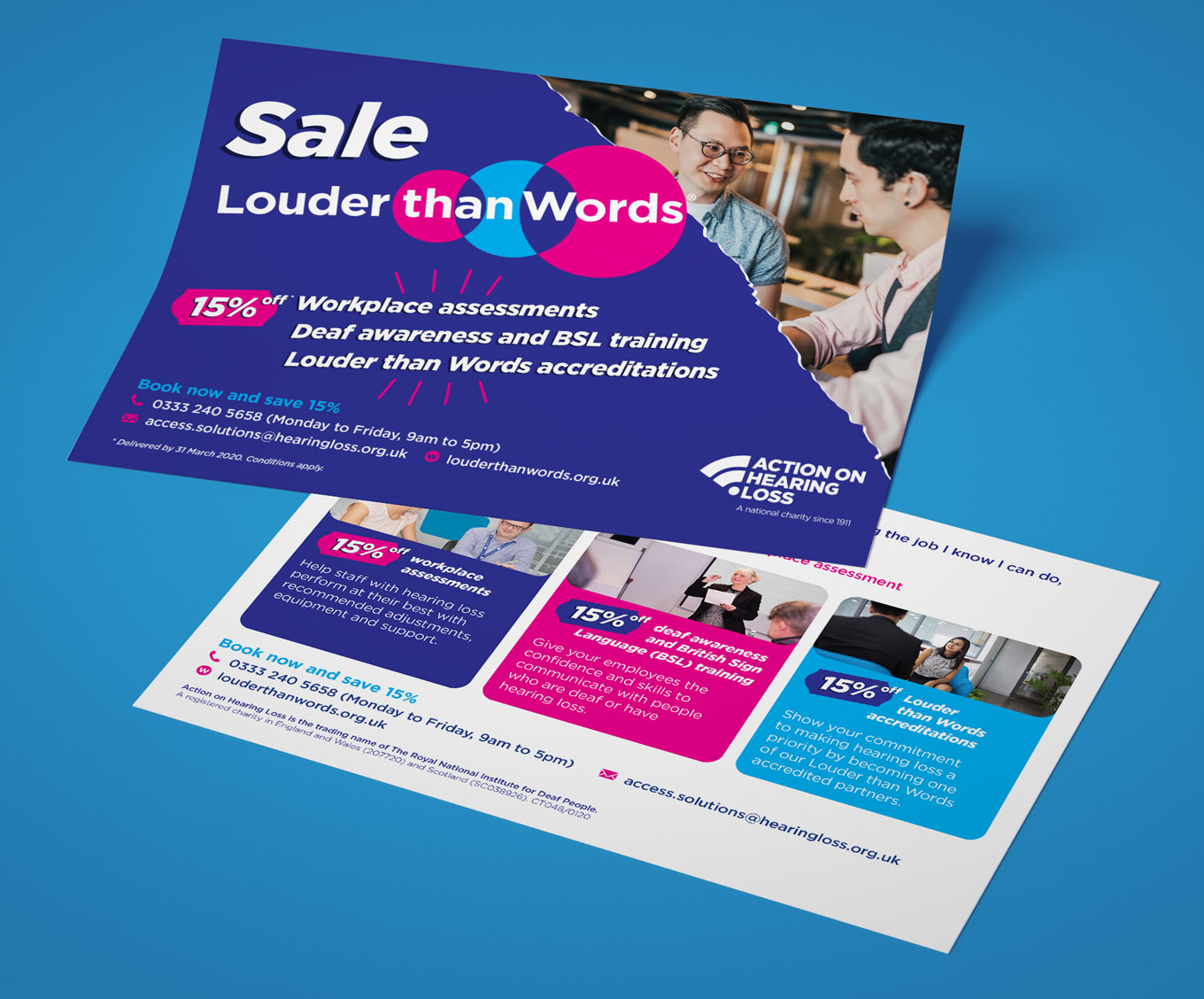 louder than words campaign action on hearing loss